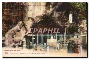 Former Interior Postcard Lourdes Grotto Miraculous
