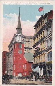 Old South Church And Washington Street Boston Massachusetts 1926