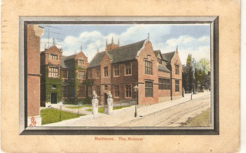 Maidstone. The Museum Tuck Framed Aquagraph  Ser. PC # 1262