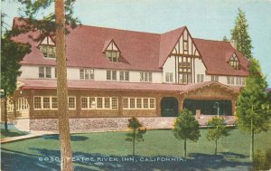 California C-1910 Feathe River Inn Pacific Novelty Postcard roadside 6045
