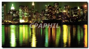 Etas States - USA - New York City Skyline at Dusk Along the Hudson River - Ol...