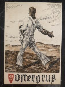 Mint Germany Patriotic Postcard Ostergruss easter Celebration WW2