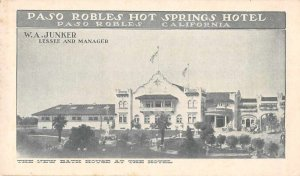 Paso Robles California Paso Robles Hot Springs Hotel Bath House Postcard AA356