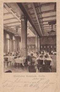Germany Berlin Weinstuben Kempinski Gelber Saal 1911