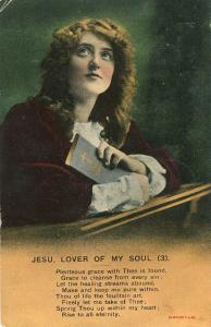 Bamforth Jesus Lover of My Soul 1910 Postcard