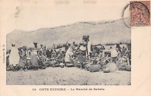 Ivory Coast Cote d'Ivoire, Le Marche de Sakala, Market, pottery, pots