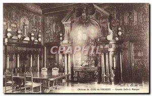 Old Postcard Chateau Du Clos De Vougeot Grand Dining Room