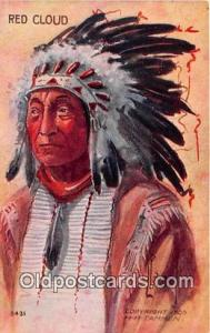 Artist Peterson Postcard Post Card Red Cloud