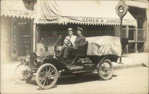Lake Crystal MN Music Shop Phonographs Pianos & Old Car GOMER H JONES rppc