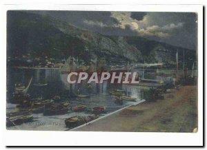 Old Postcard Menton night