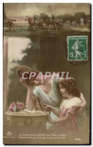 Old Postcard Fantaisie Child Militaria