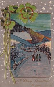 PFB Serie 7858 Christmas With Landscape Scene 1908