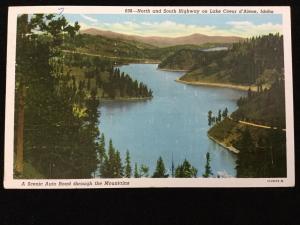 1943 North and South Highway, Lake Coeur d'Alene, Idaho postcard
