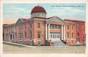 B31/ McAlester Oklahoma Ok Postcard c1910 First Baptist Church Building