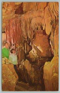 Cave City Kentucky~Cascade Falls Crystal Onyx Cave~Vintage Postcard