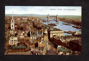 UK London From Monument London England Great Britain Valentine Valesque Postcard