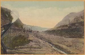 Panama Canal Zone-Culebra Cut as it appears from Cucaracha, Looking North