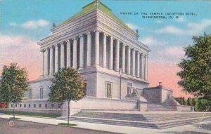 Washington DC House Of The Temple 1940