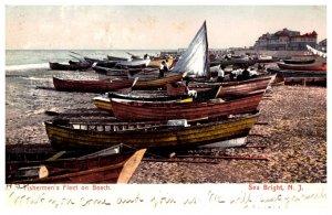 New Jersey   Sea Bright  Fisherman's Fleet on Beach