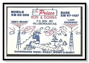Canada New Brunswick QSL Ham Radio The Prices - (MX-016)