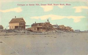 Brant Rock Massachusetts Ocean Bluff Sandy Hill Cottage Antique Postcard K91169