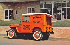 Toledo OH Jeep Dispatcher Model DJ-3A Hardtop Advertising Postcard