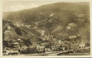 germany, ASSMANNSHAUSEN am Rhein, Panorama (1930) RPPC