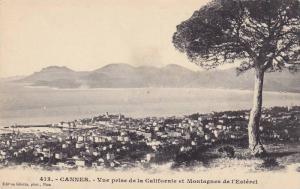 CANNES, Vue prise de la Californie et Montagnes de l'Esterel, Alpes Maritimes...