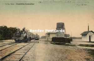 madagascar, AMBILA-LEMAITSO, La Gare, Railway Station, Steam Train (1910s)
