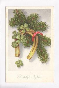 Gladeligt Nytaar, Happy New Year, Denmark, used Postcard