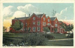 MI, Muskegon, Michigan, Old People's Home, Undivided back