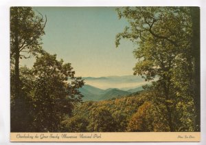 Overlooking the Great Smoky Mountain National Park 1986 used Postcard