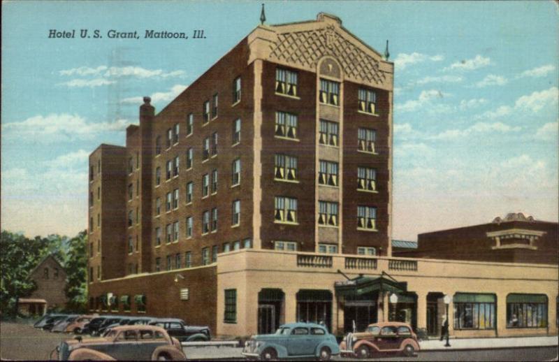 Mattoon Il Hotel Us Grant Postcard