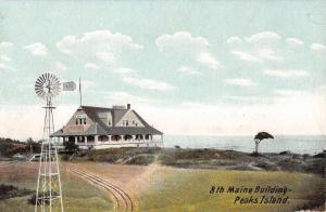 Peaks Island Maine 8th Building Street View Antique Postcard K94227