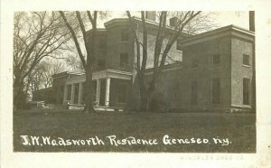 C-1910 Livingston JW Wadsworth Residence Geneseo New York RPPC Postcard 12822