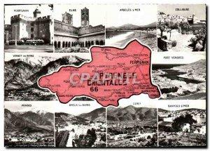 Postcard Modern Pyrenees Orientales Perpignan Elne Argeles Collioure