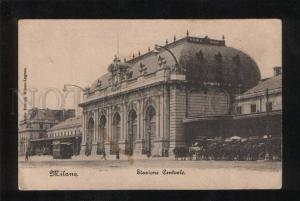 058470 ITALY Milano Statione Contrale TRAIN Station Vintage PC