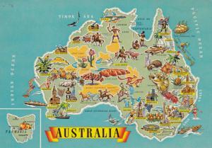 Map , Australia , 50-70s