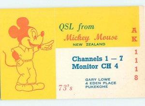 Pre-1980 RADIO CARD - CB HAM OR QSL Pukekohe - Auckland New Zealand AH3131