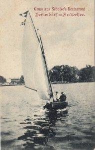 Gruss aus Schulze's Restaurant , Bernsdorf am Krupeflee , Germany , 1907