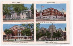 The Corner of Education, Justice and Religion, Elkhart, Indiana, 30-40s