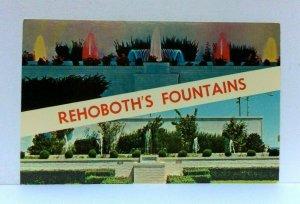 Rehoboth Beach Delaware Fountains Postcard