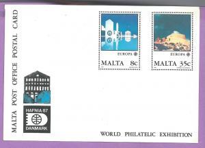 Malta #718-719 Europa Postal Card