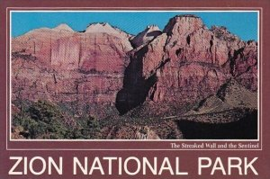 The Streaked Wall And The Sentinel Zion National Park Utah