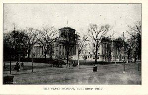 OH - Columbus. State Capitol & Street Scene circa 1910