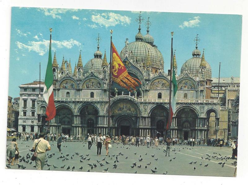 Venice Italy Venezia Basilica S Marco St Marks Cathedral Vtg Postcard 4X6