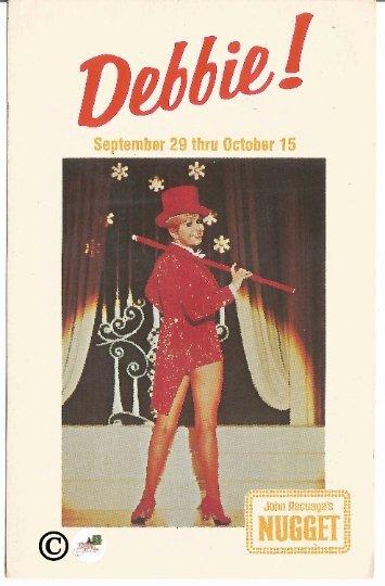 Vintage Postcard, Debbie Reynolds at the John Ascuaga's Nugget in Reno Nevada