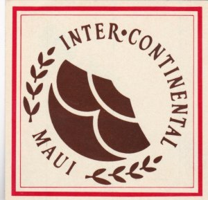 Hawaii Maui Intercontinental Hotel Vintage Luggage Label lbl0772