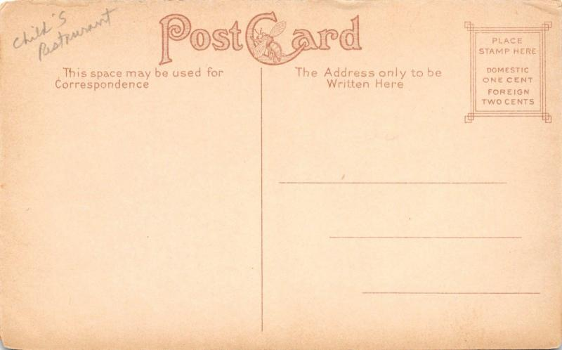 PHILADELPHIA PENNSYLVANIA~A CHILD'S PLACE RESTAURANT POSTCARD 1910s