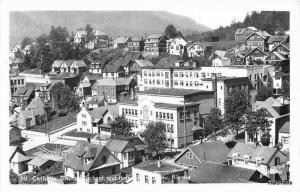 1940s Catholic Church School Hospital Alaska RPPC Real photo postcard 2165